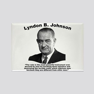 LBJ: Vote Rectangle Magnet